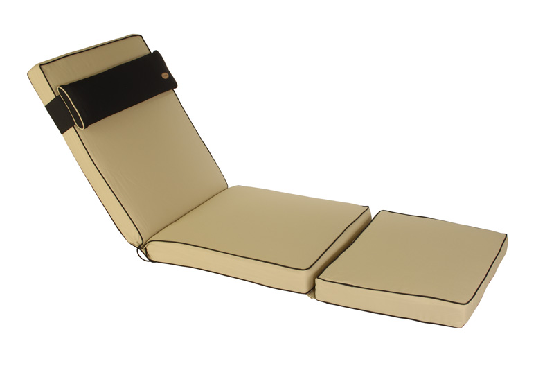 Lounger bench cushions for outdoor garden furniture