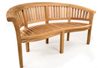 Madingley banana teak garden bench photo