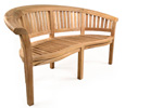 Madingley curved teak garden bench seats 2