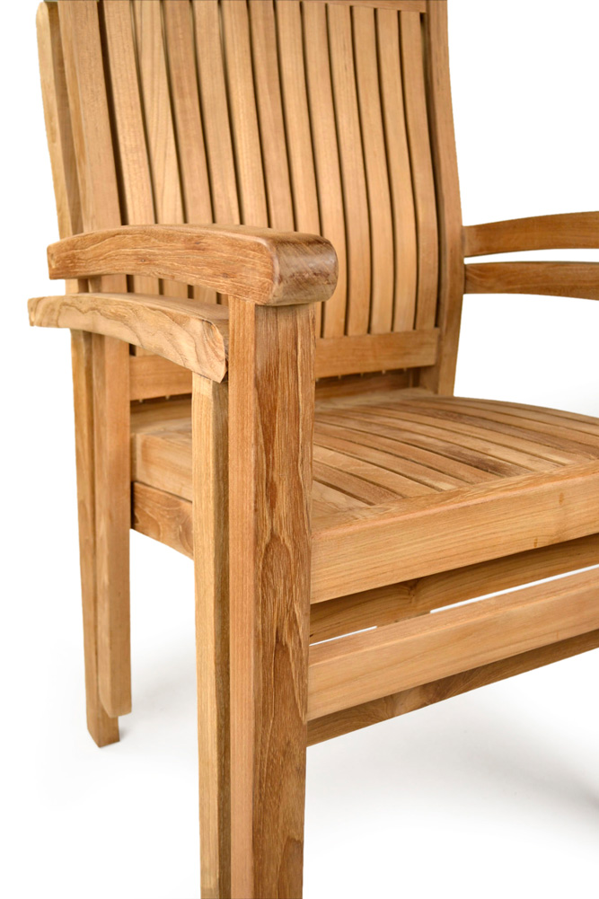 oxford teak stacking chairs grade a teak furniture