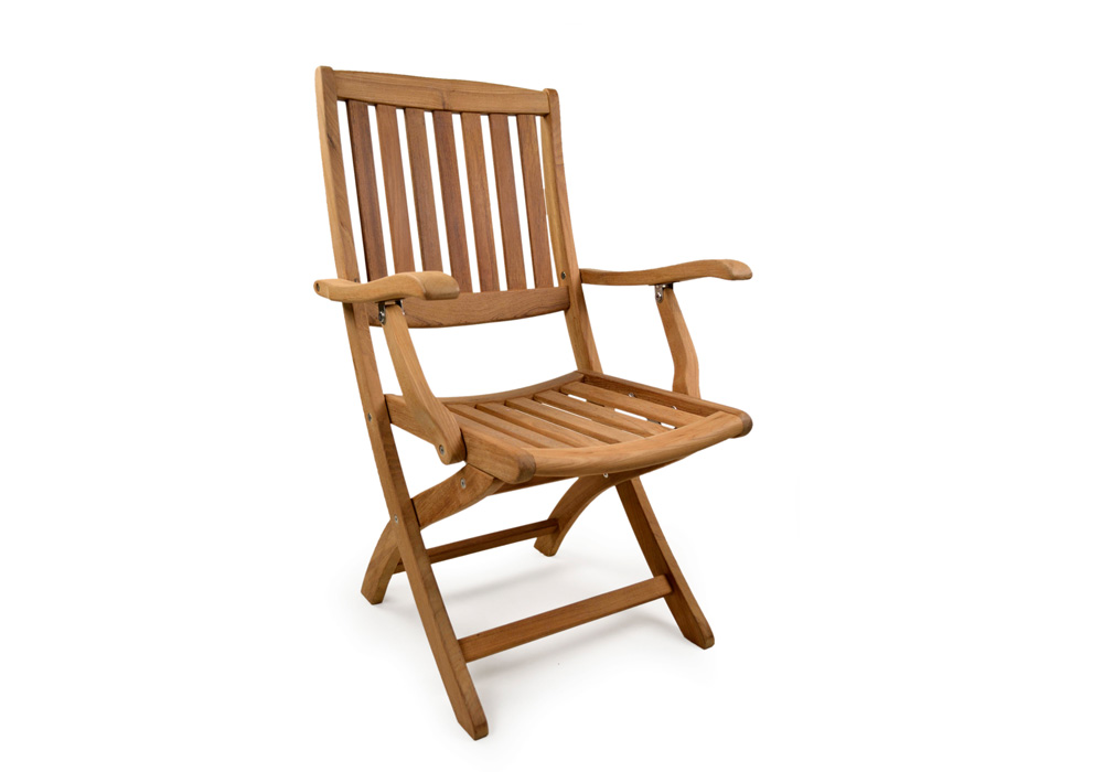 Garden Furniture York york folding teak arm chair - grade a teak furniture