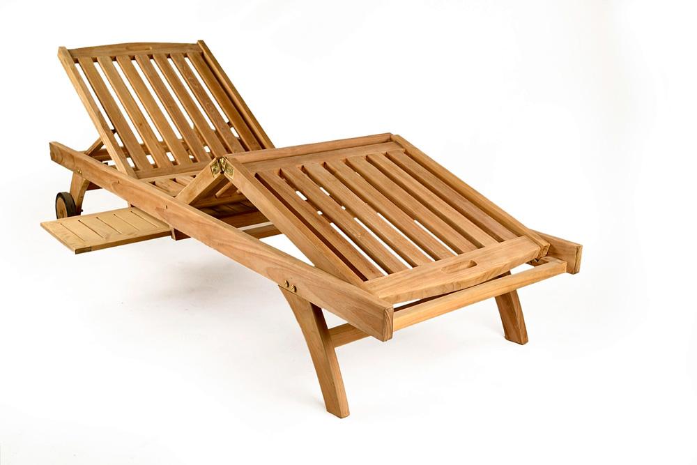 Deluxe Teak Sun Lounger Teak Garden Furniture