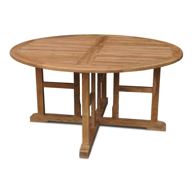 Valencia 180cms round teak garden table for Round teak outdoor table