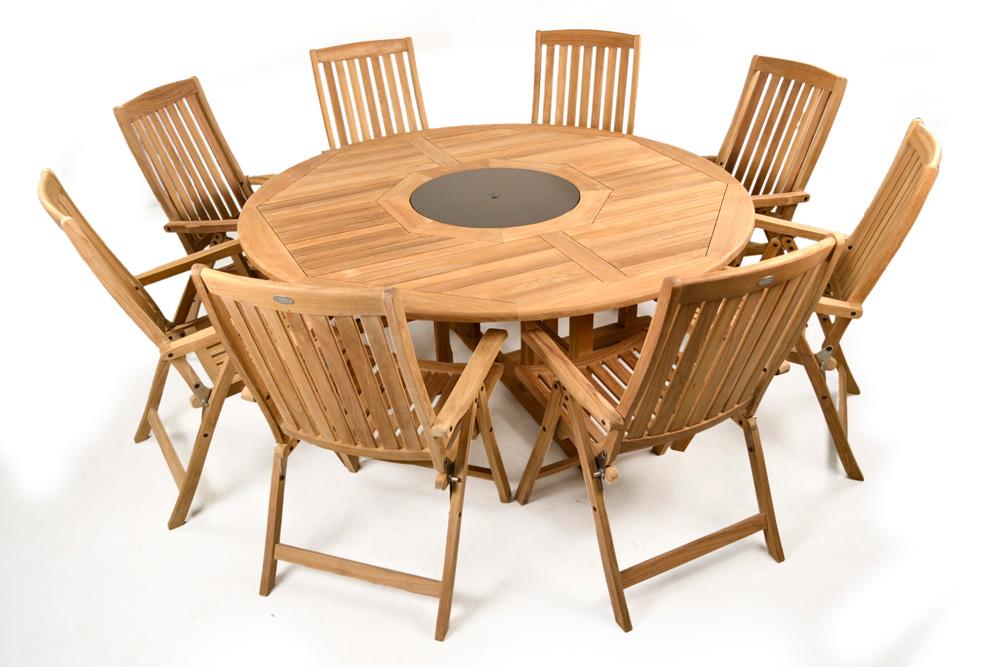 Valencia 180cms Round Teak Garden Table