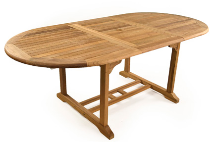 Westminster extending teak tables for sale at Just Teak